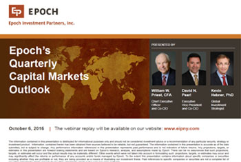 Capital Markets Outlook - October 6, 2016