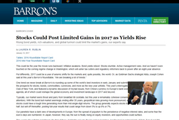 Bill Priest on Barron's 2017 Investment Roundtable