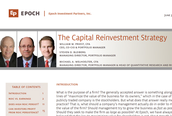 The Capital Reinvestment Strategy