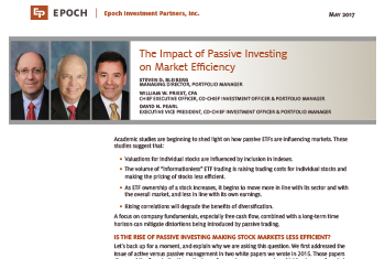 The Impact of Passive Investing on Market Efficiency