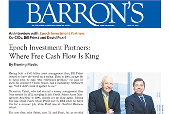 Barron's interview with Epoch Investment Partners - April 25, 2015