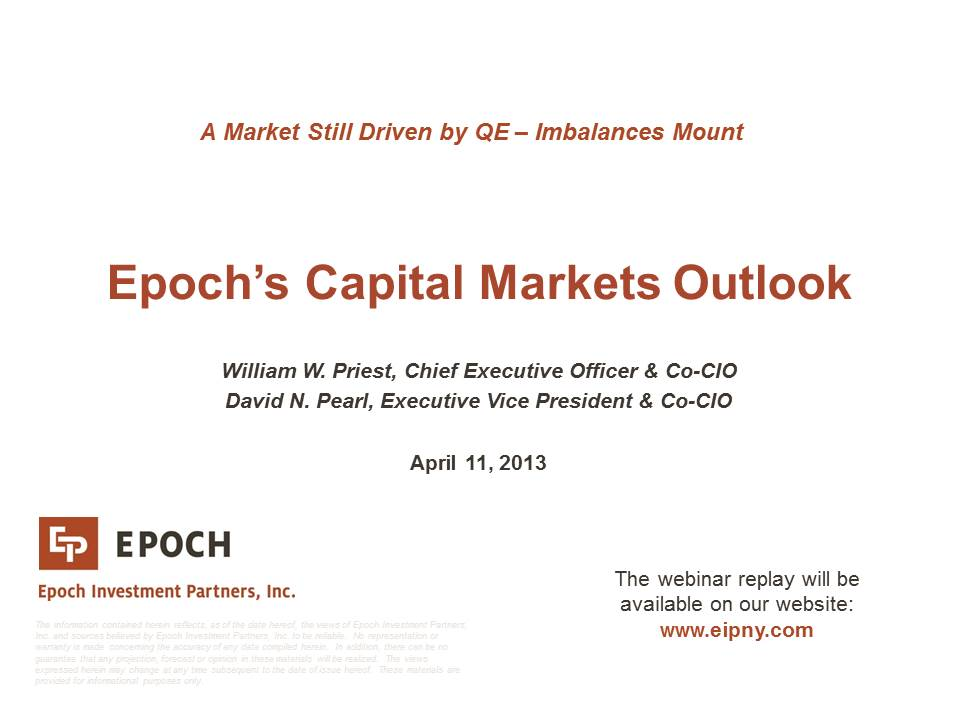 Replay: Epoch Capital Markets Outlook